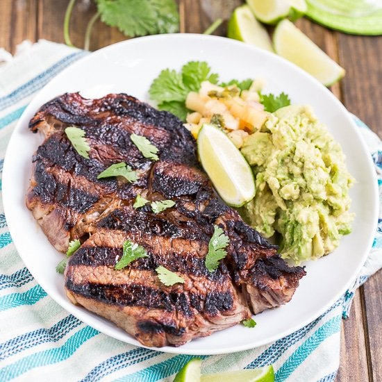 Margarita Steaks - juicy rib-eyes marinated in tequila, lime, and triple sec.