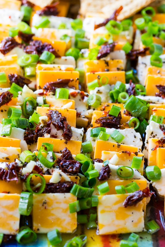 Spicy Marinated Cheese makes an easy party appetizer