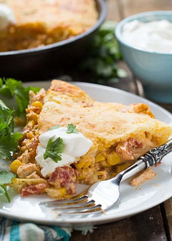 me tell you a little more about my Mexican Chicken Cornbread Casserole ...