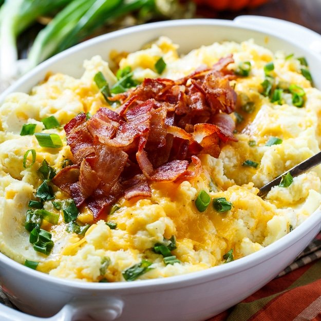 Loaded Mashed Potato Casserole #PinARecipeFeedAChild @challengebutter