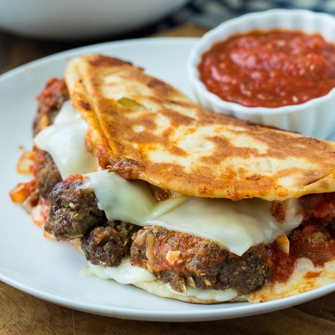 Meatball and Mozzarella Panini