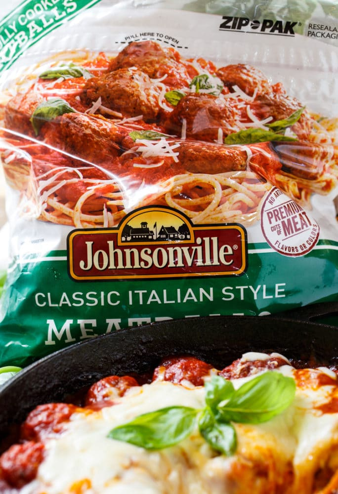 Cheesy Meatball Skillet with Johnsonville Meatballs