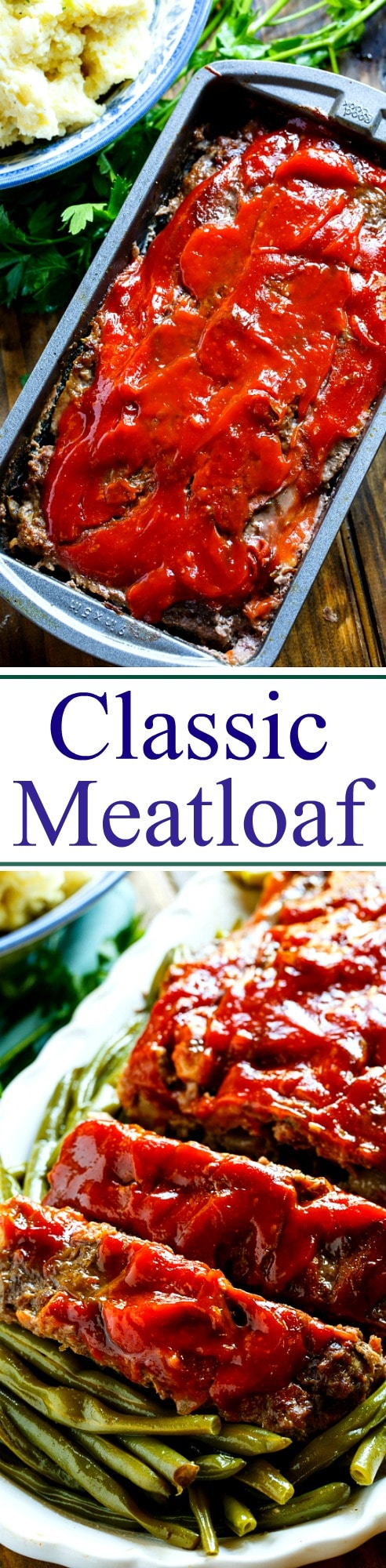 Classic Meatloaf with a Brown Sugar Glaze