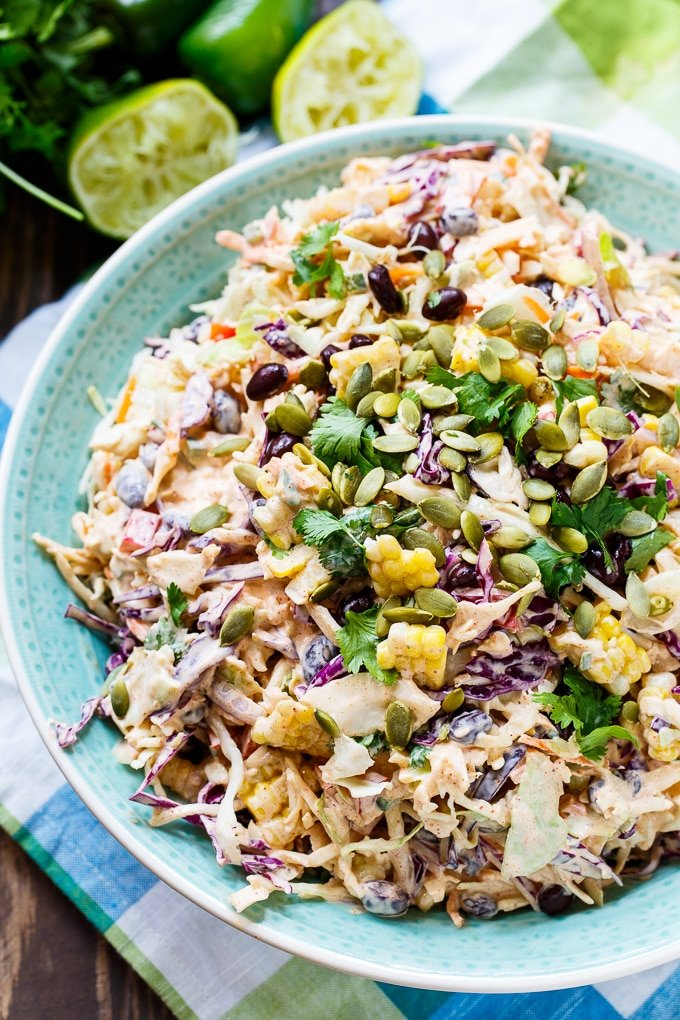 Mexican-flavored coleslaw