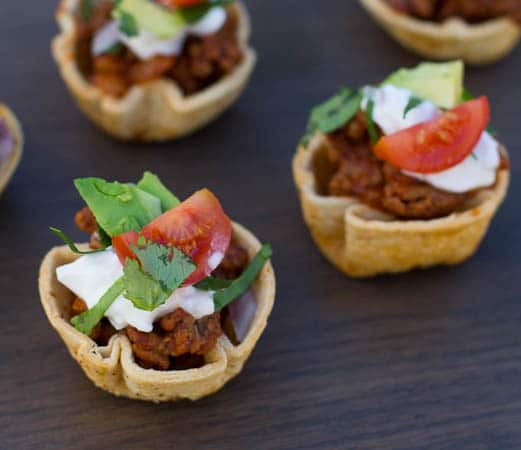 Mini Steak And Bean Taco Cups Recipes — Dishmaps