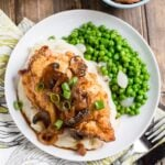 Southern Fried Chicken Breasts with Cremini Sweet Onion Gravy
