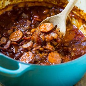 Baked Beans With Smoked Sausage Spicy Southern Kitchen