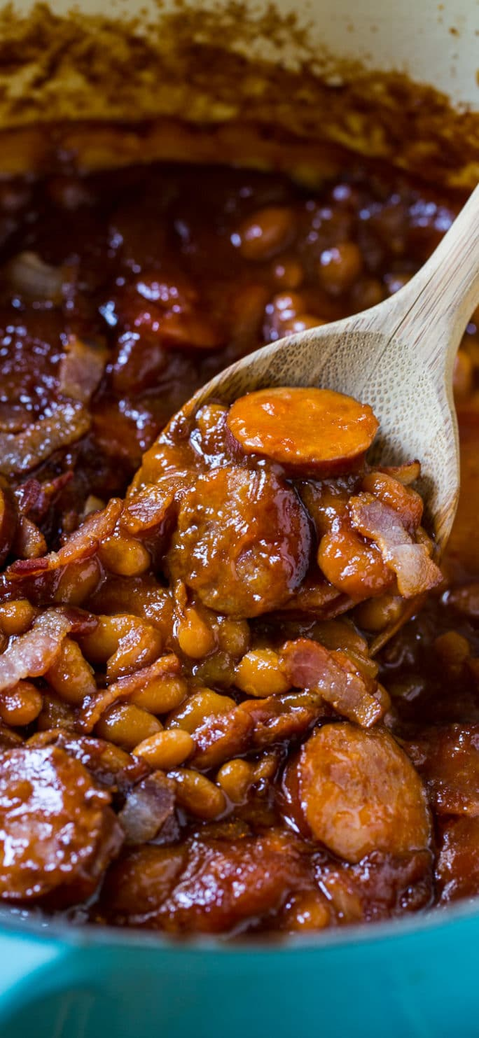 ... Baked beans with smoked sausage. This is my very favorite baked bean