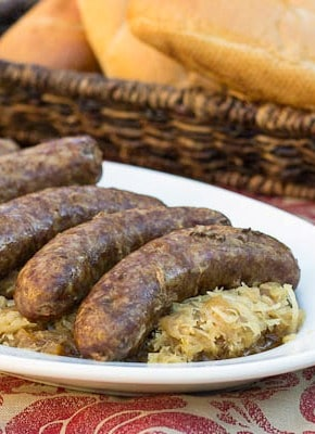 Slow Cooker Beer Brats - yes, you can cook brats in the crock pot. They don't develop that nice char from the grill, but they are so juicy and flavorful.