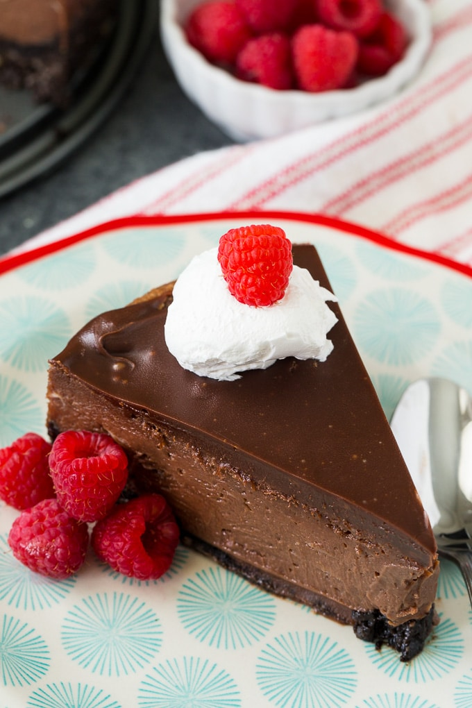 Nutella Cheesecake with chocolate ganache