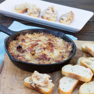 Hot Caramelized Onion Dip with Bacon and Gruyere - Spicy Southern ...