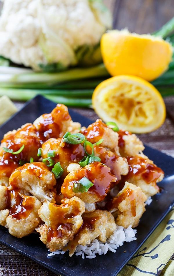 Orange Cauliflower - the vegetarian version of  Orange Chicken.