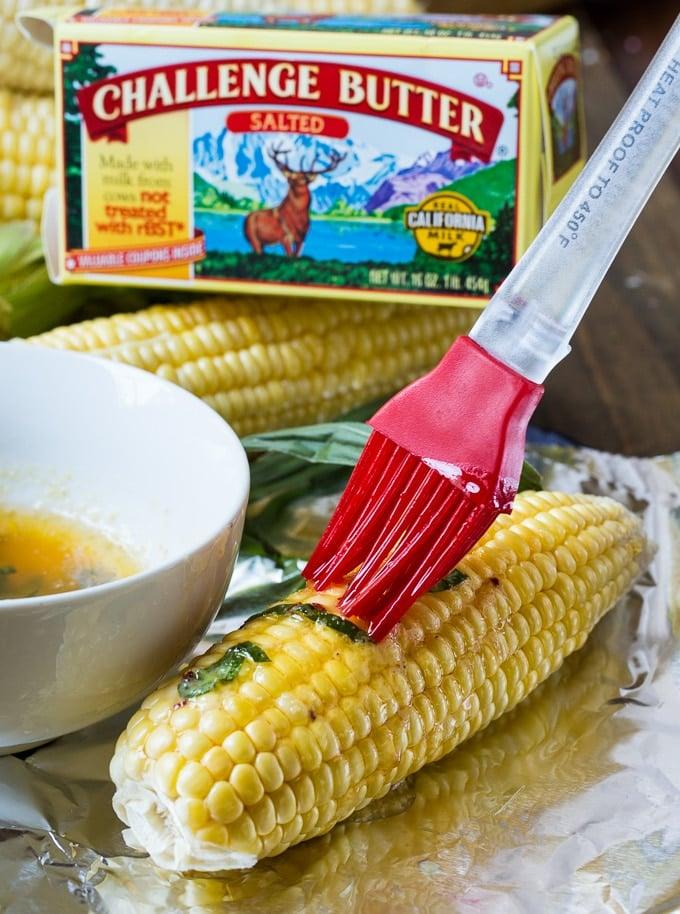 Grilled Garlic Parmesan Corn - Spicy Southern Kitchen