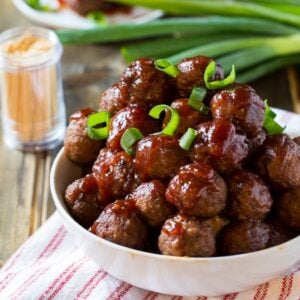 Crock Pot Cranberry Meatballs - Spicy Southern Kitchen