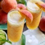 Frozen Peach Bellini Mocktail