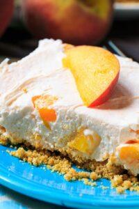 No-Bake Peach Cheesecake Bars