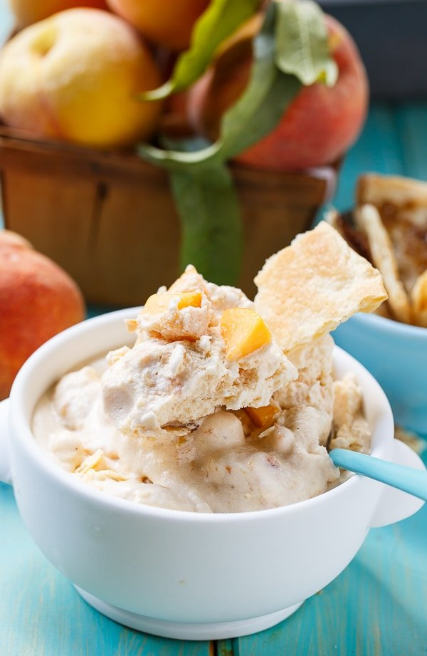 Peach Cobbler Ice Cream