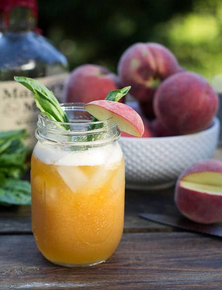 Peach Julep #recipe | Cocktail Recipes | Pinterest