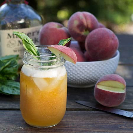 Peach-Basil Juleps - Spicy Southern Kitchen