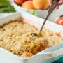 Oatmeal Cookie Peach Cobbler