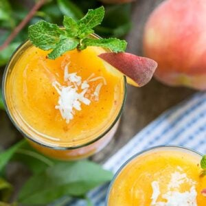 Peach-Coconut Daiquiri