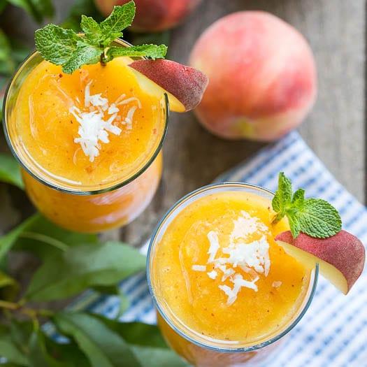 Peach-Coconut Daiquiri