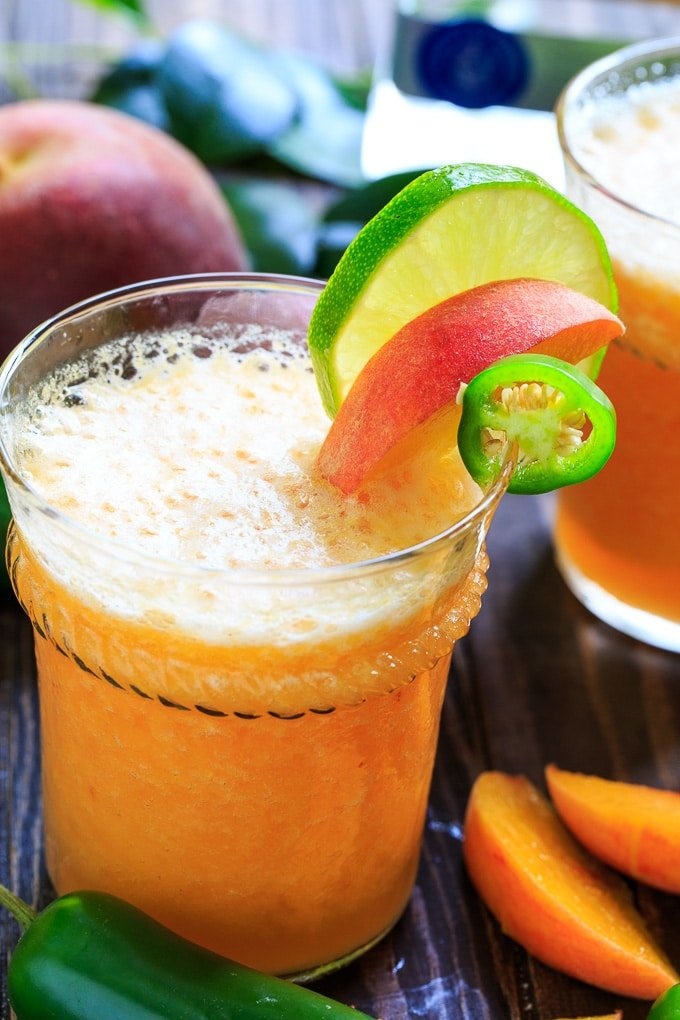 Peach Jalapeno Margaritas recipe