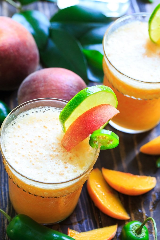 Peach Jalapeno Margarita recipe