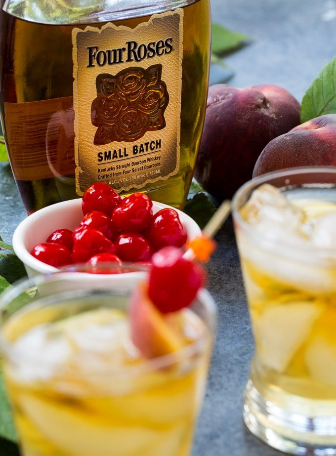 Peach Old-Fashioned with Four Roses Bourbon