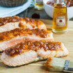 Salmon with Bourbon Peach BBQ Sauce