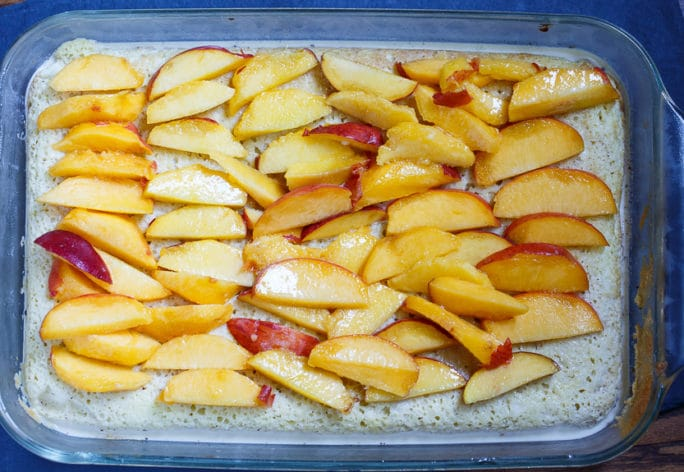 Peach Bourbon Tres Leches