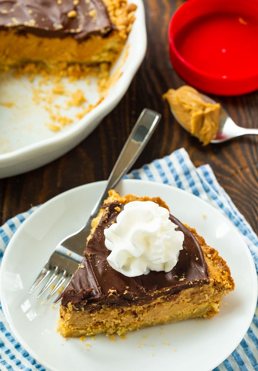 Chocolate Topped Peanut Butter Pie with Sugar Cookie Crust