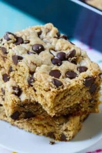 Peanut Butter Bars with Chocolate Chips