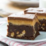 Double Frosted Peanut Butter Brownies