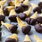 Chocolate Dipped Peanut Butter Bugles