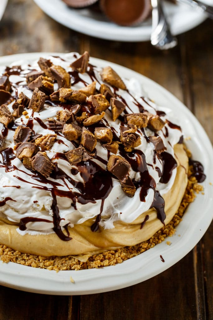 Creamy Peanut Butter Pie- perfect for summer potlucks!