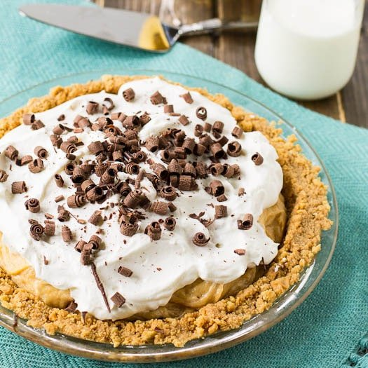 Creamy Peanut Butter Banana Pie - Spicy Southern Kitchen