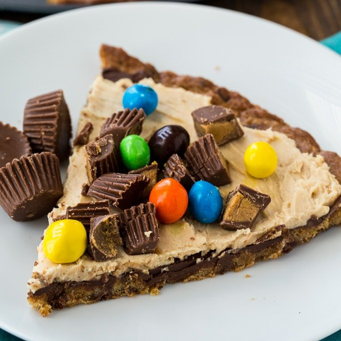 peanut butter cup dessert pizza spicy southern kitchen