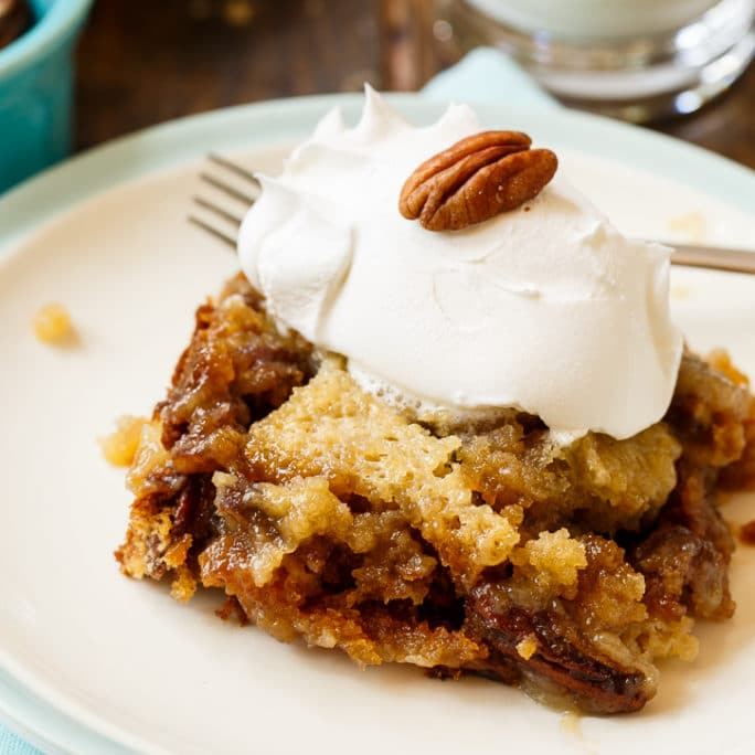Pecan Pie Cake- cake that tastes just like pecan pie!