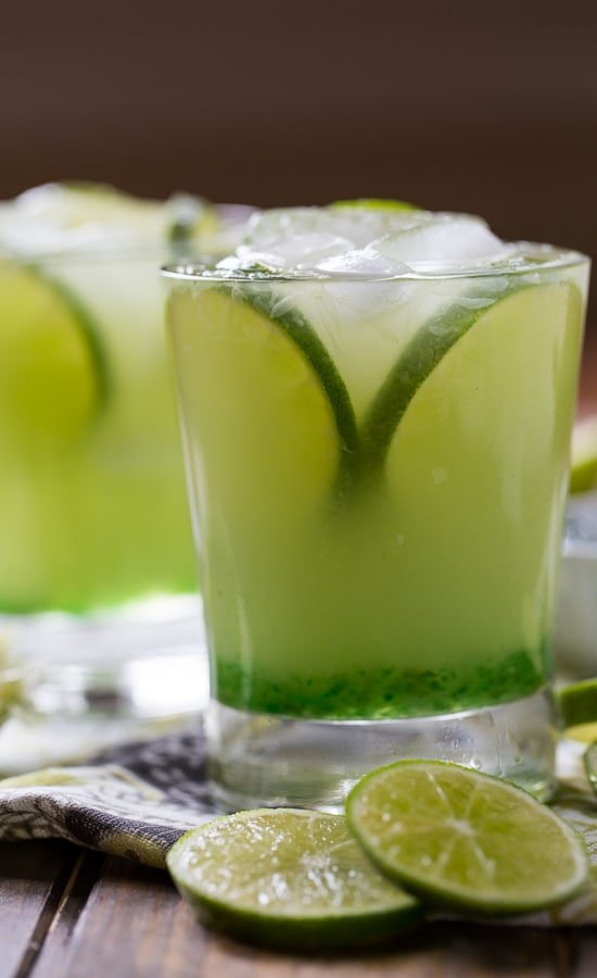 Pepper Jelly Margarita - a southern-style Margarita made with green pepper jelly.