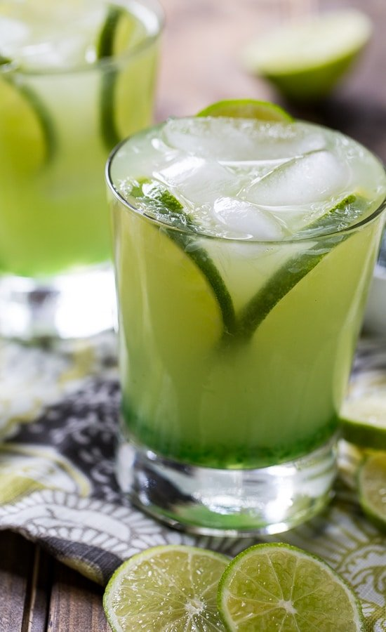 Pepper Jelly Margarita- a southern-style Margarita made with green pepper jelly.
