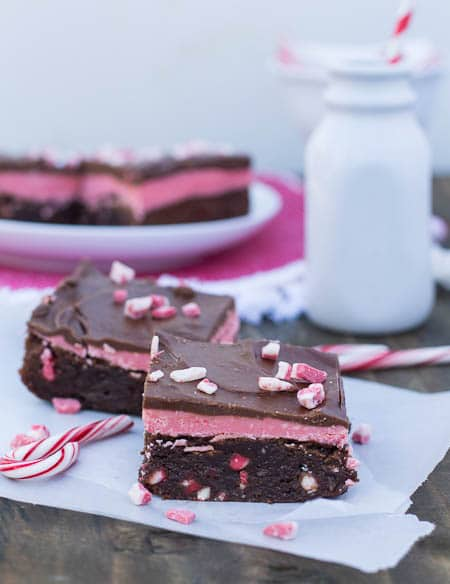 Triple Layer Peppermint Brownies