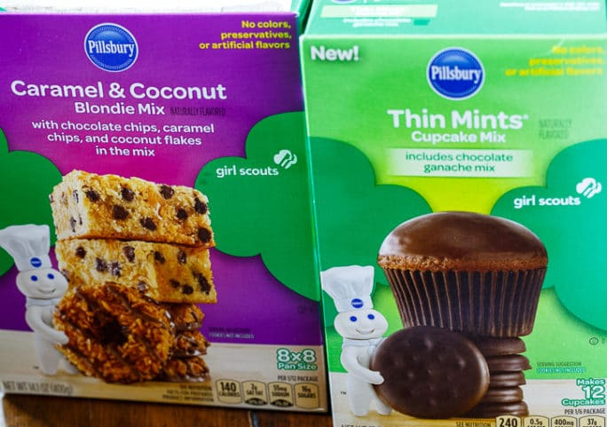 Pillsbury Baking MIxes flavored like Girl Scout Cookies