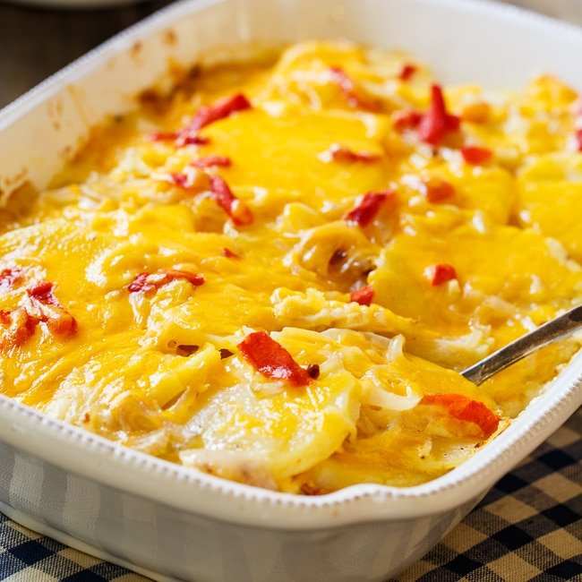 Pimento Cheese Potato Gratin - Spicy Southern Kitchen