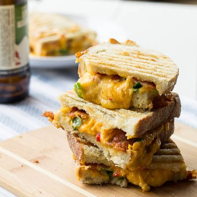 Pimiento Cheese Panini with bacon