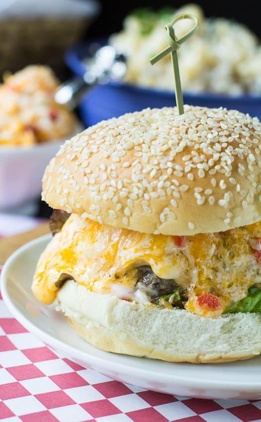 Pimento Cheese Burger #recipe #southern