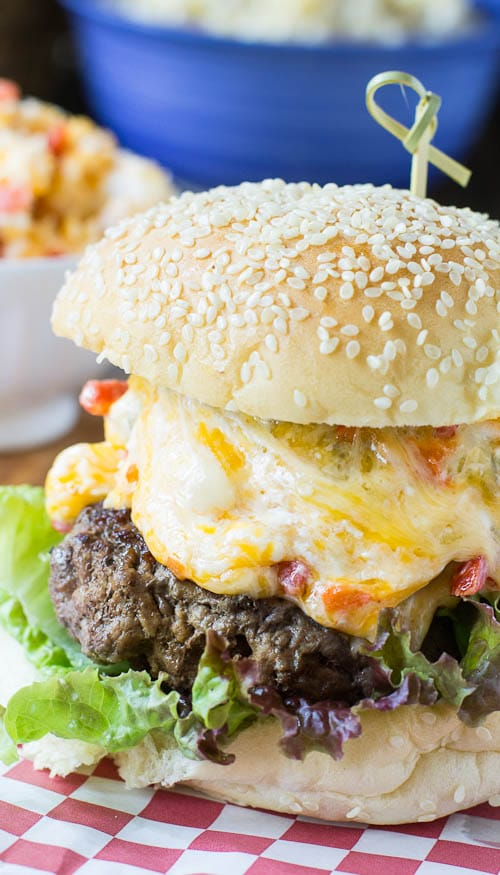 Pimiento Cheese Burger #recipe