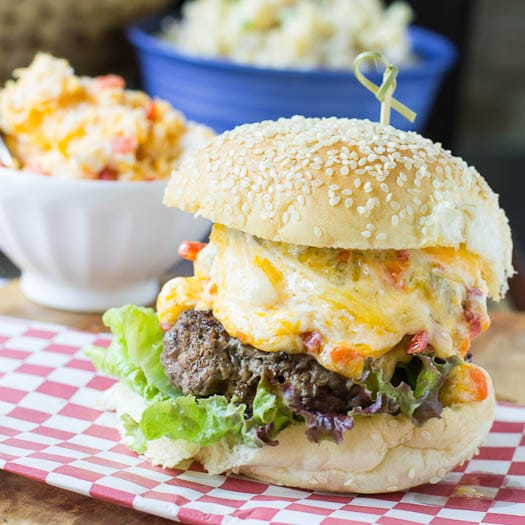 Pimiento Cheese Burgers #recipe