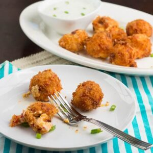Fried Pimiento Cheese Balls with Ranch Dipping Sauce