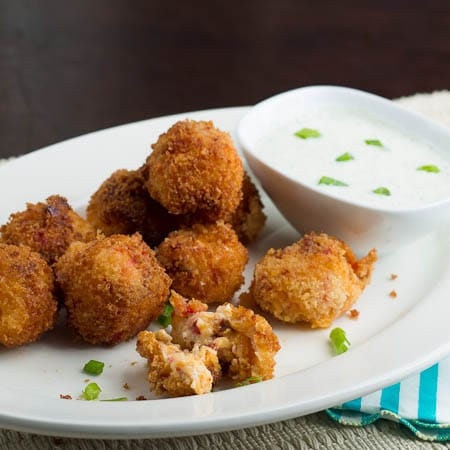 Fried Pimiento Cheese Balls with Bacon